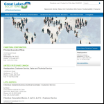 Screen shot of the Great Lakes Europe Ltd website.