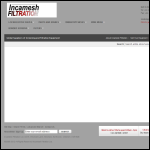 Screen shot of the Incamesh Filtration Ltd website.