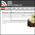 Screen shot of the IMIRP Rapid Prototyping Ltd website.