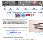 Screen shot of the Atlas Ball & Bearing Co Ltd website.