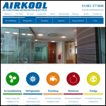 Screen shot of the Airkool Refrigeration & Air Conditioning website.