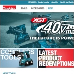 Screen shot of the Makita (UK) Ltd website.