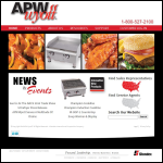 Screen shot of the APW Fabrications website.
