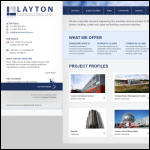 Screen shot of the Layton Engineering Ltd website.