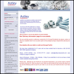 Screen shot of the Astley Components website.