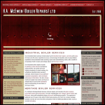 Screen shot of the H.A. McEwen (Boiler Repairs) Ltd website.