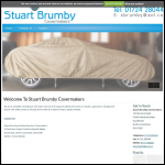 Screen shot of the Stuart Brumby Covermakers website.