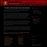 Screen shot of the Guardscan website.