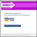 Screen shot of the Direct Instrument Hire website.