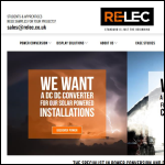 Screen shot of the Relec Electronics Ltd website.