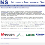 Screen shot of the Norwich Instrument Services website.