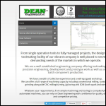 Screen shot of the Dean Engineering Ltd website.