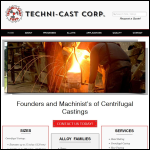 Screen shot of the Technicast Moulds Ltd website.
