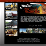 Screen shot of the Universal Machinery Co. Ltd website.