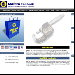 Screen shot of the MAPRA Technik Co website.