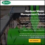 Screen shot of the Kenburn Waste Management Ltd website.