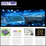 Screen shot of the Colt Electronics website.