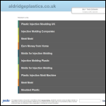 Screen shot of the Aldridge Plastics Ltd website.