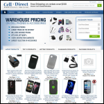 Screen shot of the Celldirect website.
