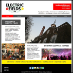 Screen shot of the Electric Fields Design Consultancy website.