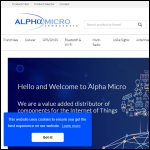 Screen shot of the Alpha Micro Components Ltd website.