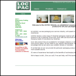 Screen shot of the Locpac website.