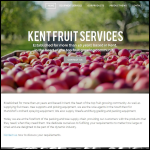 Screen shot of the Kent Fruit Services Ltd website.