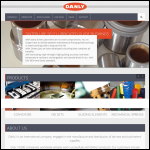 Screen shot of the Danly UK Ltd website.