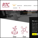 Screen shot of the RTC North Ltd website.