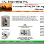 Screen shot of the RC Electronics website.