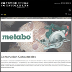 Screen shot of the Construction Consumables Ltd website.