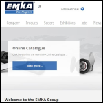 Screen shot of the EMKA (UK) Ltd website.