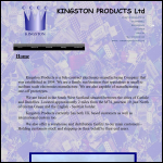 Screen shot of the Kingston Products Ltd website.