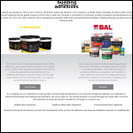 Screen shot of the Building Adhesives Ltd website.