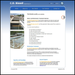 Screen shot of the CD Bissell Engineering Services Ltd website.