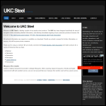 Screen shot of the UKC Steel website.