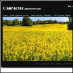 Screen shot of the Cleanacres Machinery Ltd website.