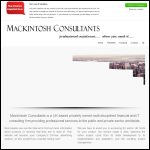 Screen shot of the Mackintosh Consultants website.