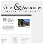 Screen shot of the Giles Associates website.