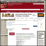 Screen shot of the Cambridge Polymer Consultants website.