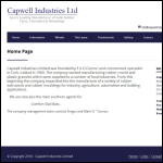 Screen shot of the Capwell Industries Ltd website.