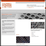 Screen shot of the Caldwell Filtration Ltd website.