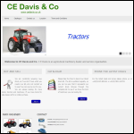 Screen shot of the CE Davis & Co (Marshfield) Ltd website.