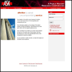 Screen shot of the A.S.K. for Service website.