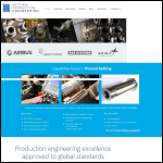 Screen shot of the Victoria Production Engineering Ltd website.