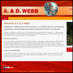 Screen shot of the A & D Webb Metal Polishing Specialists website.