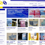 Screen shot of the British Chemical Products website.