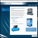 Screen shot of the Compressed Air Consultants Ltd website.