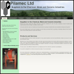Screen shot of the Pilamec Ltd website.