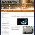 Screen shot of the Woodford Engineering Ltd website.